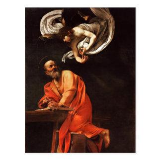 La inspiración de St Matthew, Caravaggio Postales