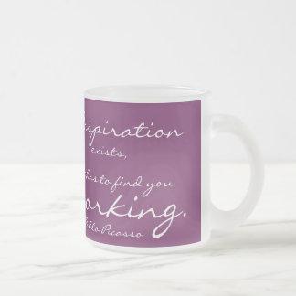 La inspiración existe, pero tiene que encontrarle tazas