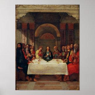 La institución de la eucaristía, c.1490 póster
