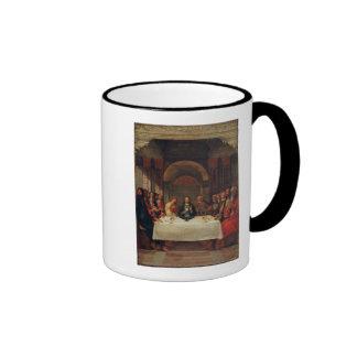 La institución de la eucaristía, c.1490 taza de dos colores