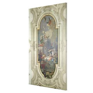 La institución del rosario por St Dominic (fres Lona Envuelta Para Galerias