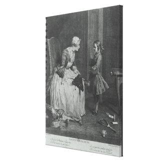 La institutriz, 1739 impresión de lienzo