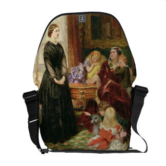 La institutriz, 1860 (aceite en lona) bolsas de mensajeria