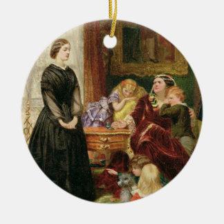 La institutriz, 1860 (aceite en lona) ornamento para reyes magos