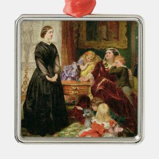 La institutriz, 1860 (aceite en lona) ornamentos de reyes