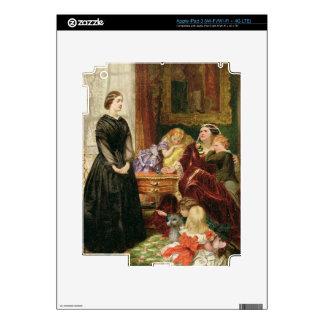La institutriz, 1860 (aceite en lona) pegatina skin para iPad 3