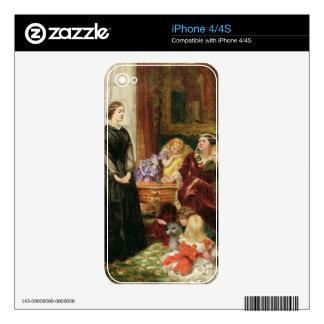 La institutriz, 1860 (aceite en lona) calcomanía para el iPhone 4S