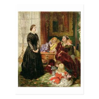 La institutriz, 1860 (aceite en lona) tarjetas postales
