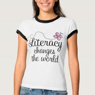La instrucción cambia la camiseta del mundo poleras