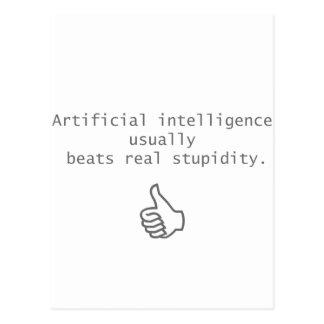 la inteligencia artificial bate estupidez real tarjeta postal