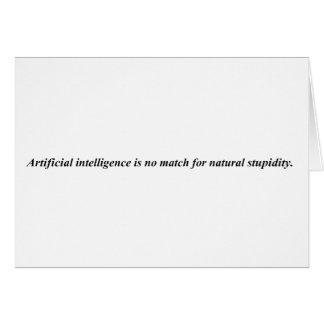 La inteligencia artificial lo ha resuelto es fósfo tarjeta de felicitación