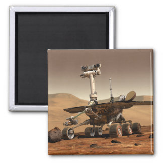 La interpretación del artista de Marte Rover Imán Cuadrado