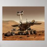 La interpretación del artista de Marte Rover Póster