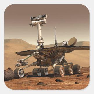 La interpretación del artista de Marte Rover Colcomanias Cuadradases