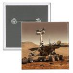 La interpretación del artista de Marte Rover Chapa Cuadrada 5 Cm