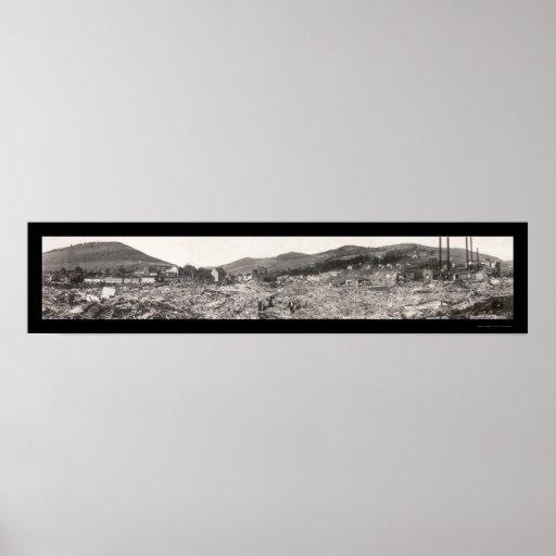 La inundación arruina la foto 1911 del PA de Austi Impresiones
