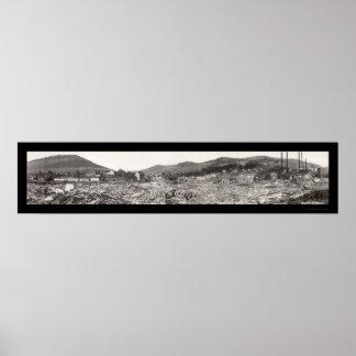 La inundación arruina la foto 1911 del PA de Austi Póster