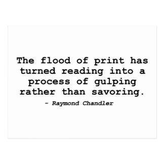 La inundación de la impresión Raymond Chandler