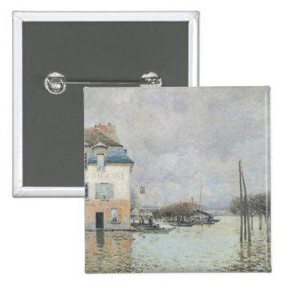 La inundación en Puerto-Margoso, 1876 Pin Cuadrado