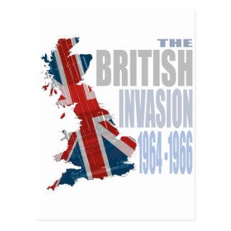 La invasión británica 1964-1966 postales