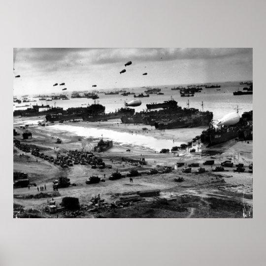 La invasión de Normandía Póster