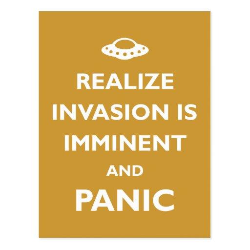 La invasión es inminente tarjeta postal