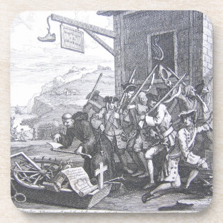 La invasión, Francia de William Hogarth Posavasos De Bebida