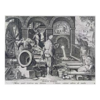 La invención de la pólvora tarjeta postal