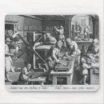 La invención del grabado de cobre tapetes de ratón