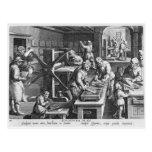 La invención del grabado de cobre tarjetas postales