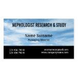 La investigación del nephology de la nube del mete tarjeta personal