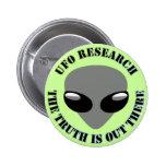 La investigación del UFO, la verdad está hacia fue Pin