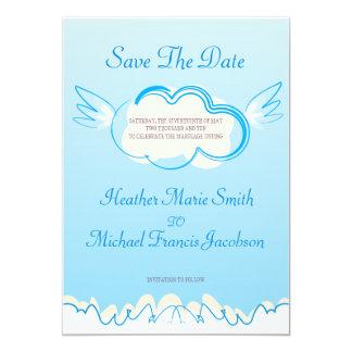 la invitación 5x7 ahorra el cielo de la fecha
