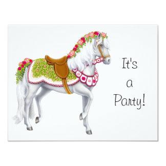 La invitación color de rosa del caballo invitación 10,8 x 13,9 cm