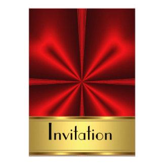 La invitación cualquiera va de fiesta rojo del oro