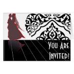 La invitación de boda de la danza felicitaciones