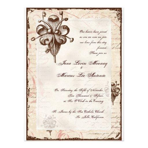 La invitación de boda del remolino del damasco del