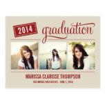 La invitación de graduación de la graduación del a tarjeta postal