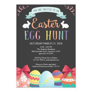 La invitación de la caza del huevo de Pascua, caza