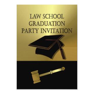 La invitación de la fiesta de graduación del