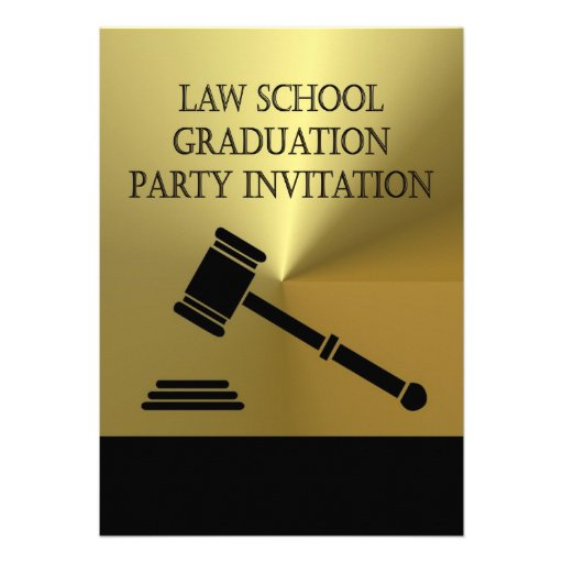 La invitación de la fiesta de graduación del coleg