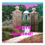 La invitación de la fiesta de jardín de uso múltip