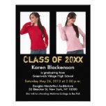 La invitación de la graduación añade el oro negro