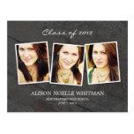 La invitación de la graduación de las fotos del vi tarjetas postales