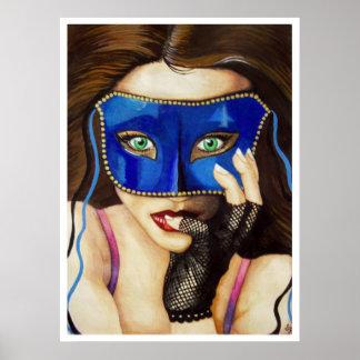 La invitación de la mascarada póster