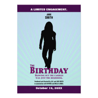 La invitación de la película del cumpleaños (chica