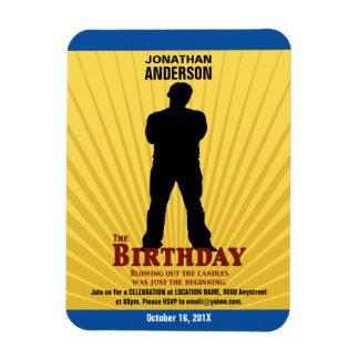 La invitación de la película del cumpleaños imanes rectangulares
