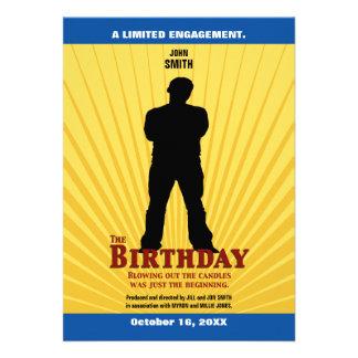 La invitación de la película del cumpleaños mucha