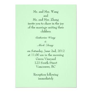 La invitación de los padres de novia y del novio,