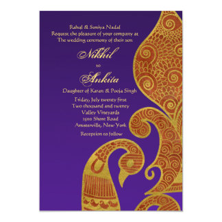 La invitación de oro del boda del cisne